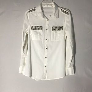 Tops - Unbranded Long Sleeve white button down blouse